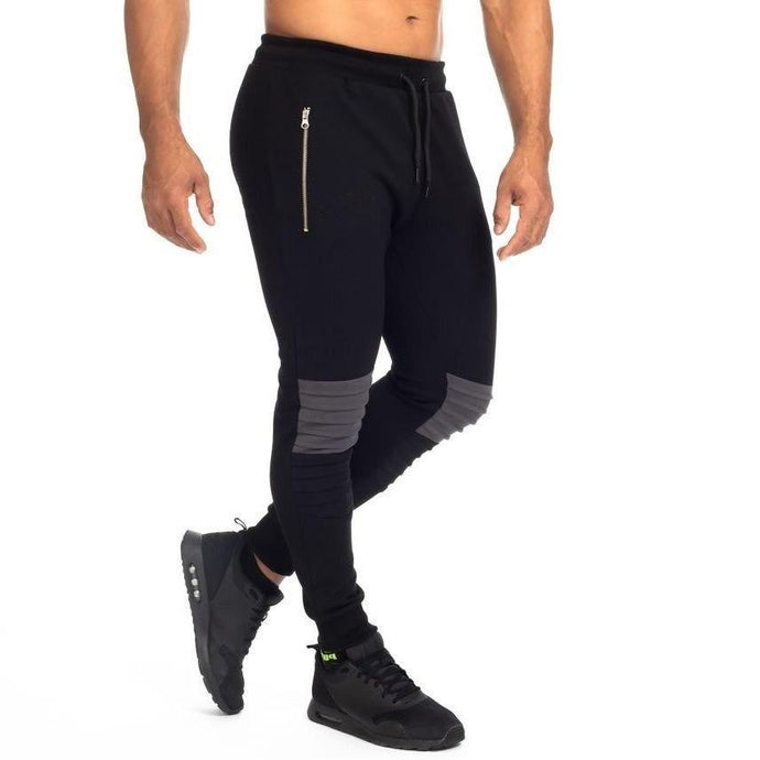 Ribbed Knee Moto Joggers - 💦Spunk Trunks