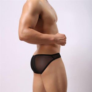 BRAVE PERSON Sexy Back Sheer Brief | Spunk Trunks
