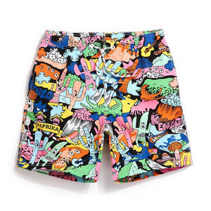 GAI LANG Psychodelic Swim Trunks | Spunk Trunks