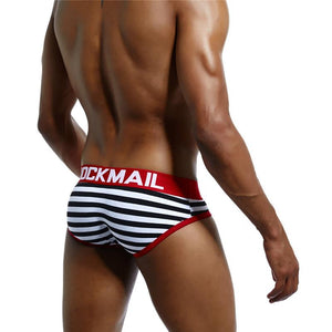 JOCKMAIL Striped Brief | Spunk Trunks