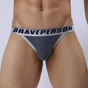 BRAVE PERSON Jacquard String Bikini | Spunk Trunks
