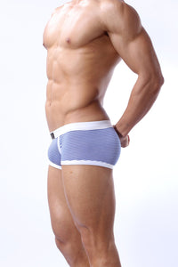 BRAVE PERSON Pinstripe Boxer Brief | Spunk Trunks