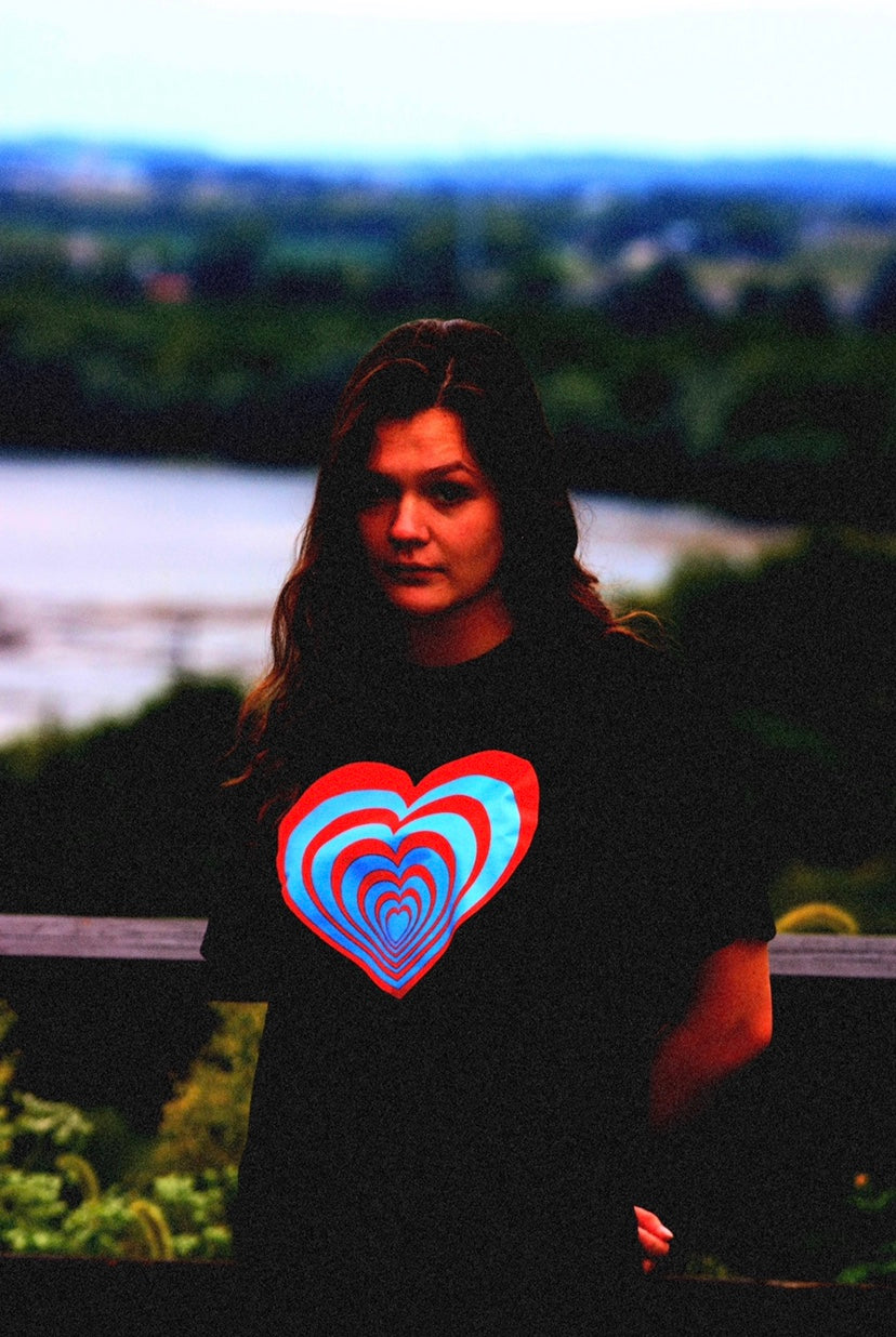 "Black ""Thermal Hearts"" Tee"