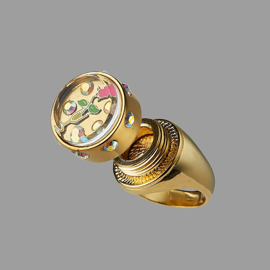 CHAMPAGNE & ROSE RING
