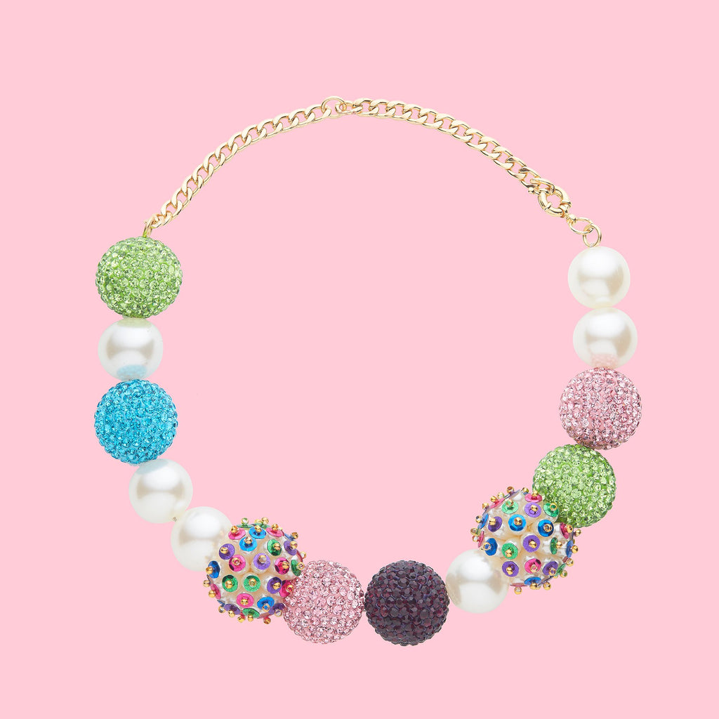 colourful balls necklace