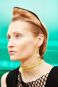 Danceteria Neon Yellow Choker