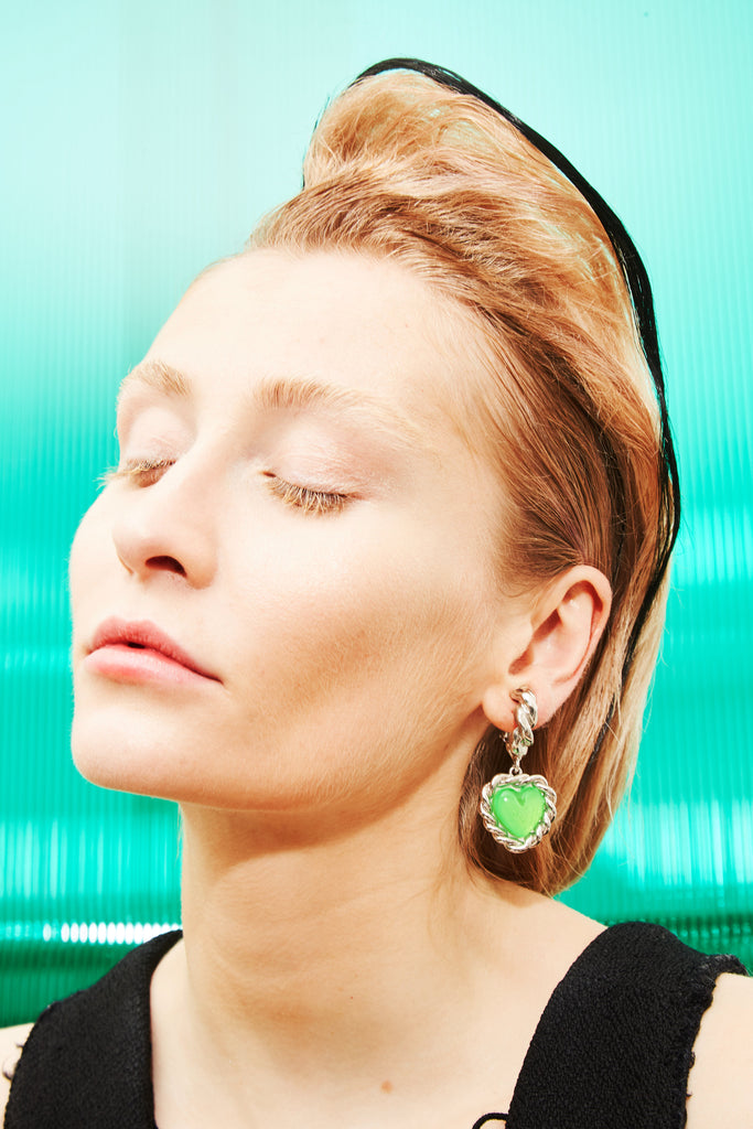 safsafu LIMELIGHT NEON GREEN EARRINGS Safsafu