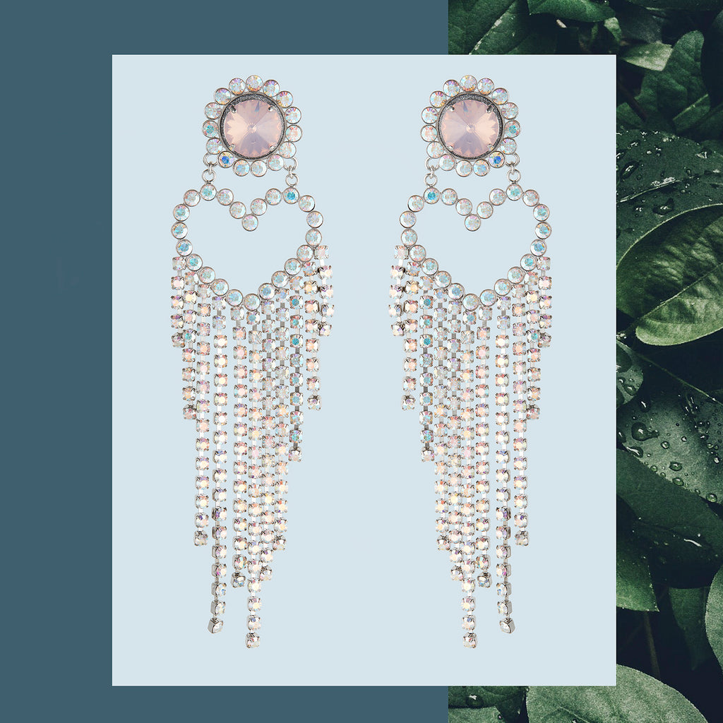 safsafu waterfall love earrings