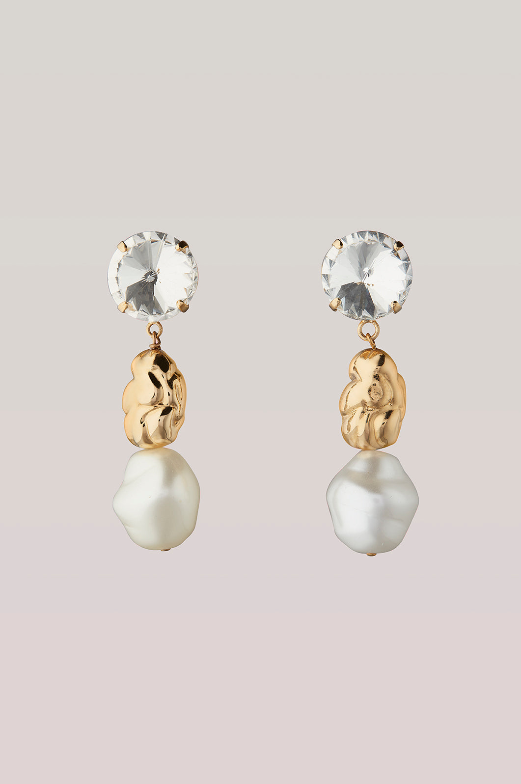 safsafu CHEWING GUM GOLD EARRINGS Safsafu