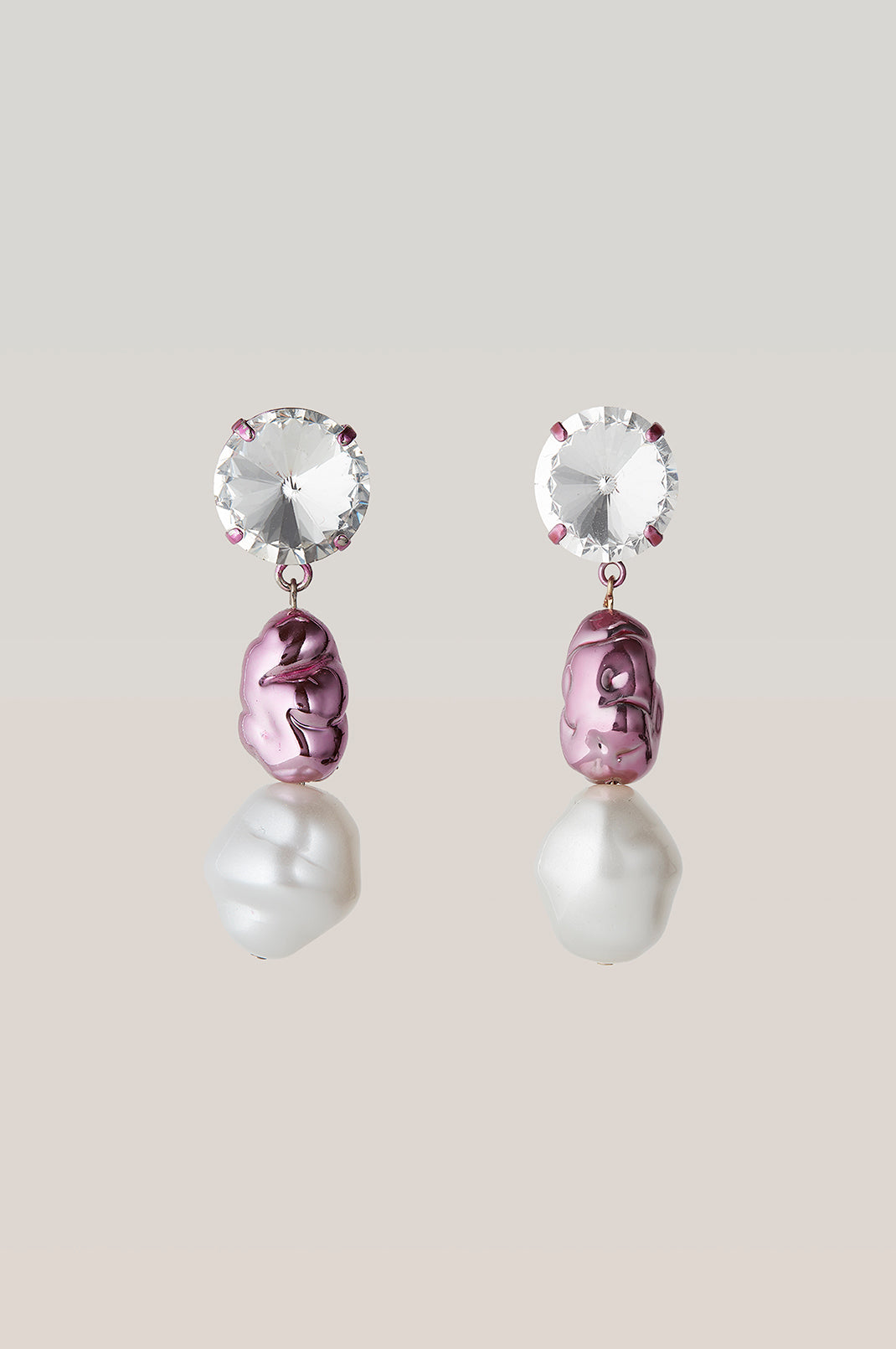 safsafu CHEWING GUM PINK EARRINGS Safsafu