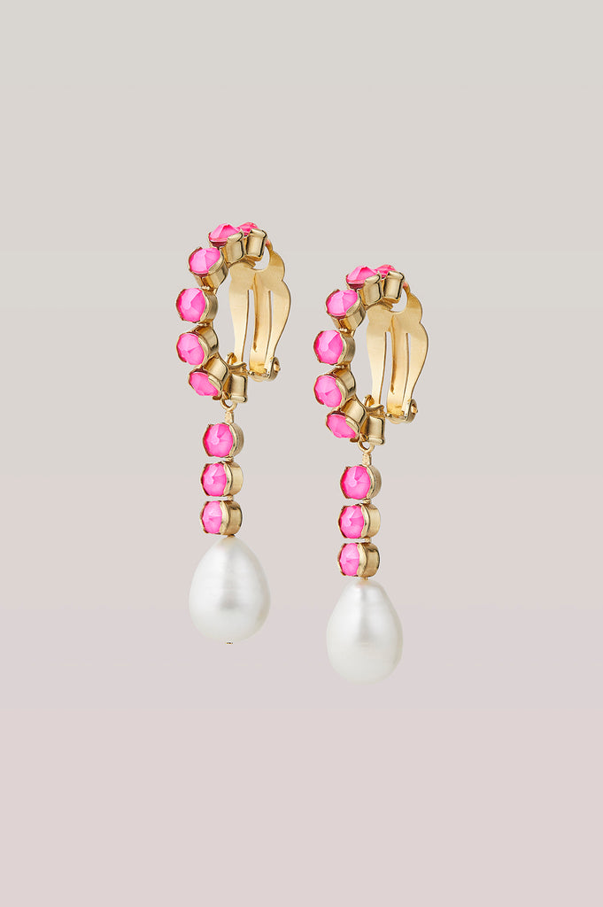 DANCETERIA NEON PINK EARRINGS