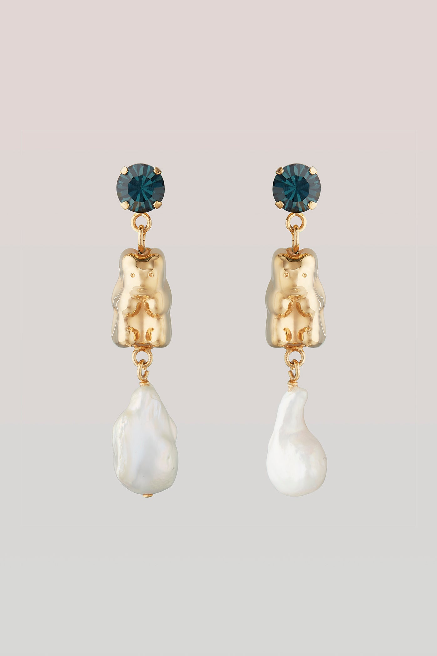 safsafu GUMMY BEAR & PEARL EARRINGS Safsafu