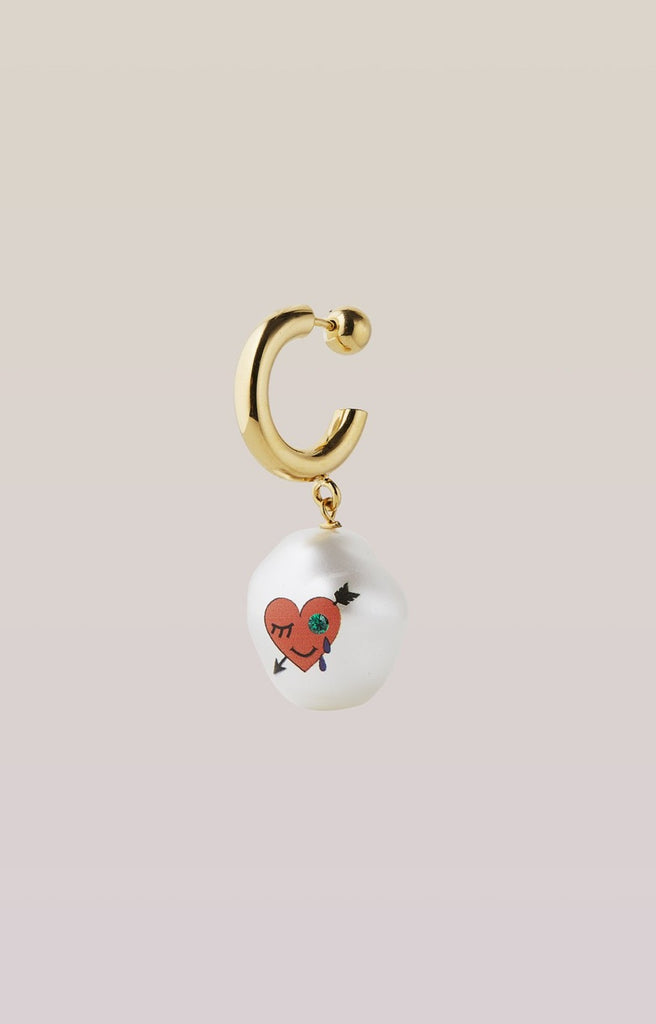 safsafu HEART COTTON CANDY EARRING Safsafu