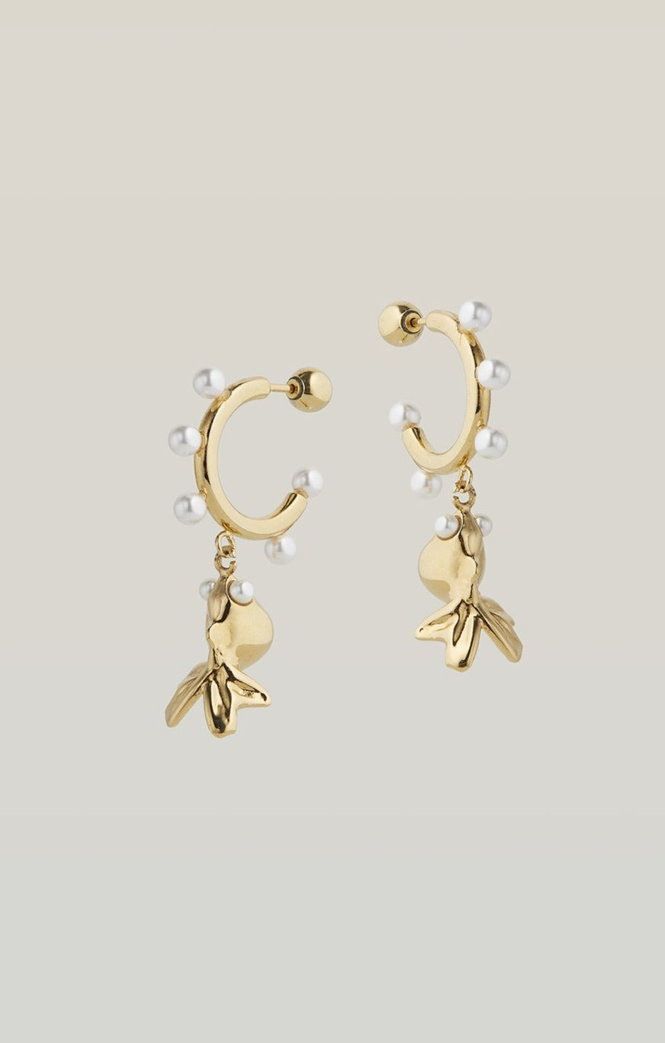 safsafu LUCKY GOLD FISH EARRINGS Safsafu