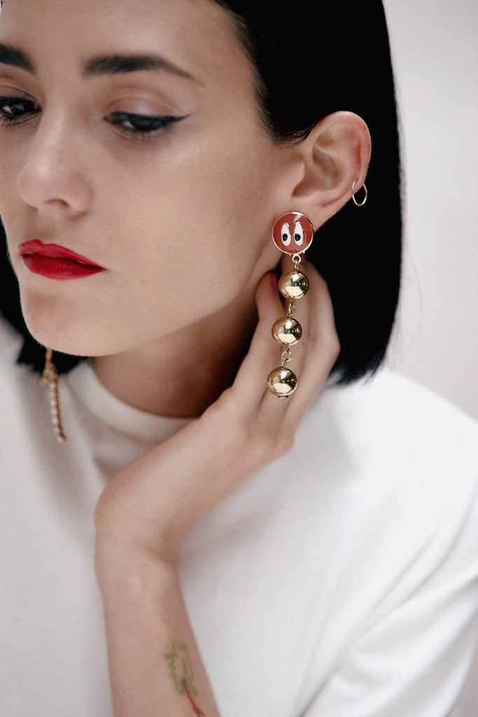 WORM & MEDUSA EARRINGS