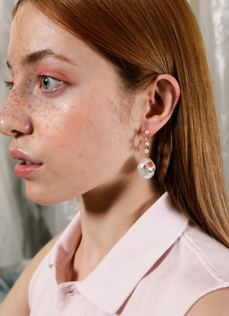 safsafu jelly beans earrings on a girl