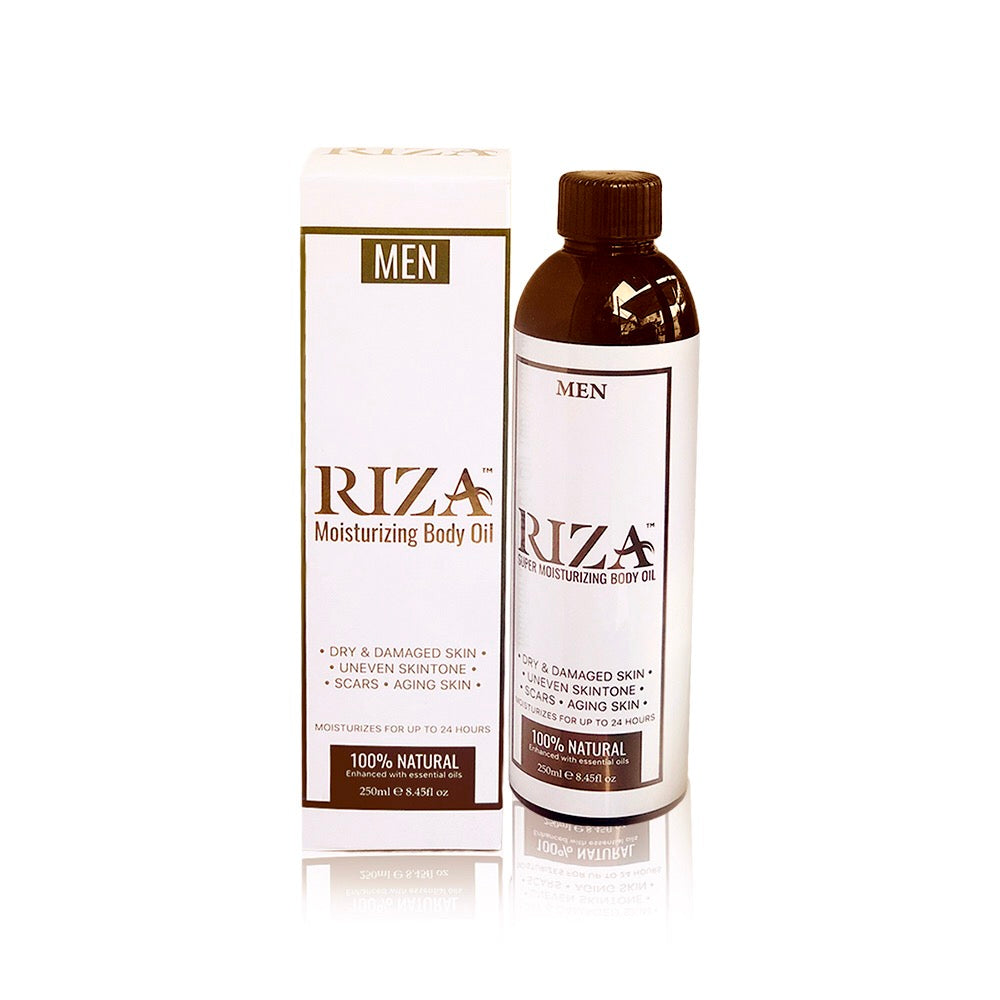 Riza Super Moisturising Body Oil - Aromatherapy Skin Care - Men