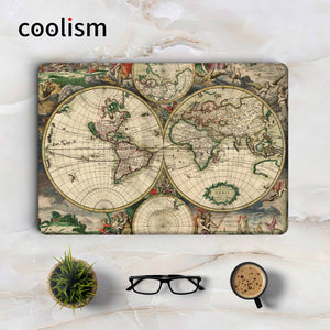 Home page macbook skin store antique world map laptop sticker decal for apple macbook pro air retina 11 12 13 15 gumiabroncs Choice Image