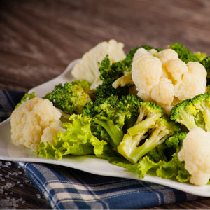 Spice Roasted Cauliflower and Broccoli