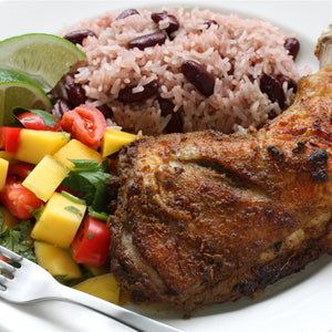 Jerk Chicken with Fruity Caribbean Slaw
