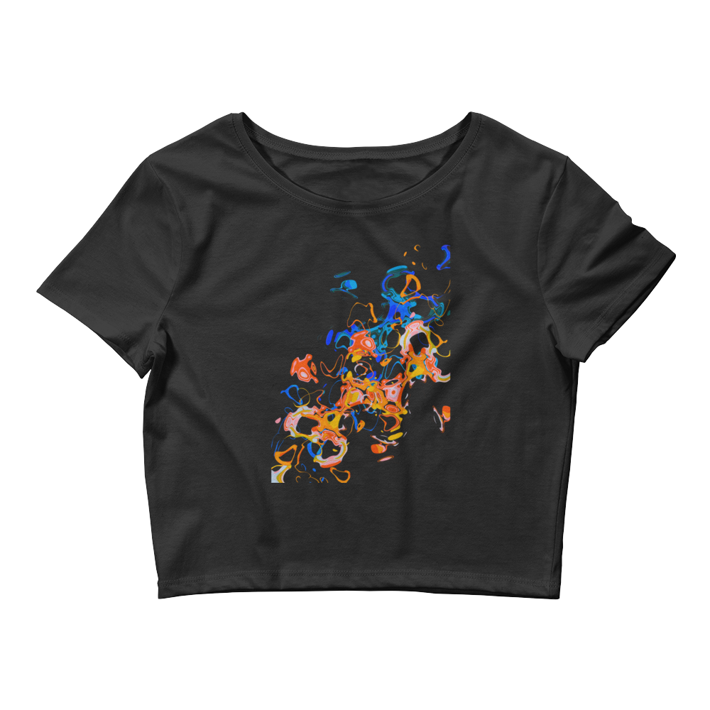 Flames on Acid Women's Crop Tee
