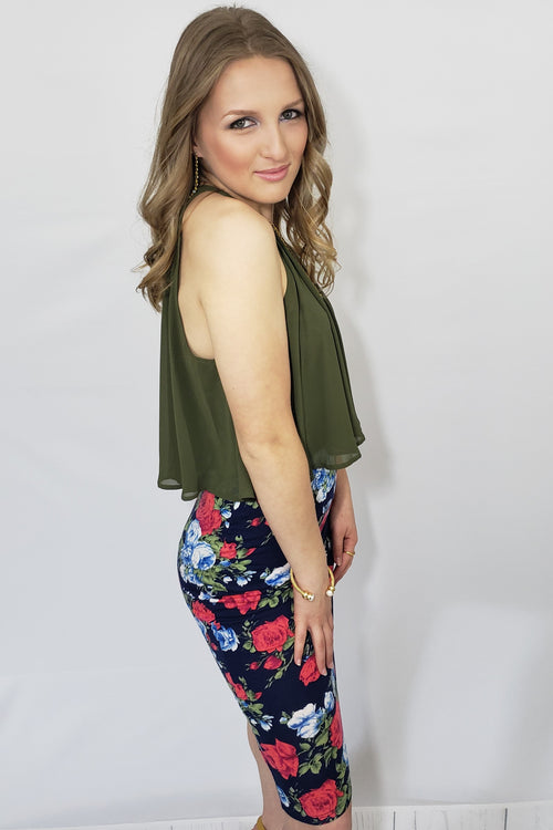 My Rose Garden Pencil Skirt - Houzz of DVA Boutique