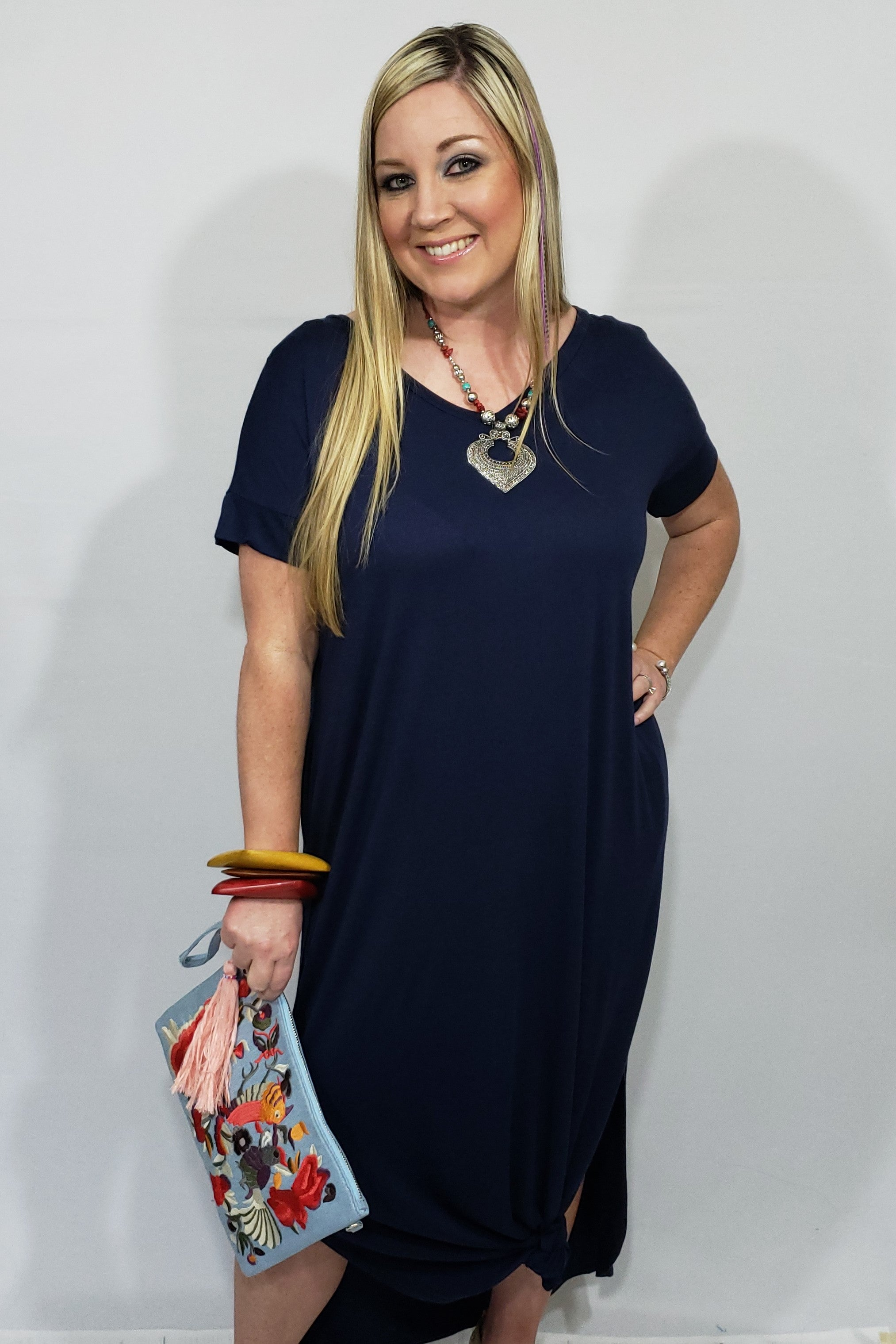 My T-Shirt Maxi Dress in Navy - Houzz of DVA Boutique