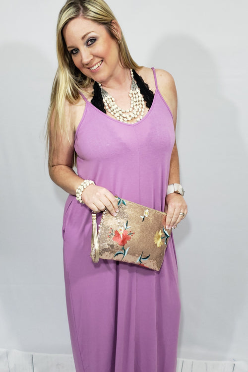 Peace-of-Mind Cami Maxi Dress in Dark Mauve - Houzz of DVA Boutique