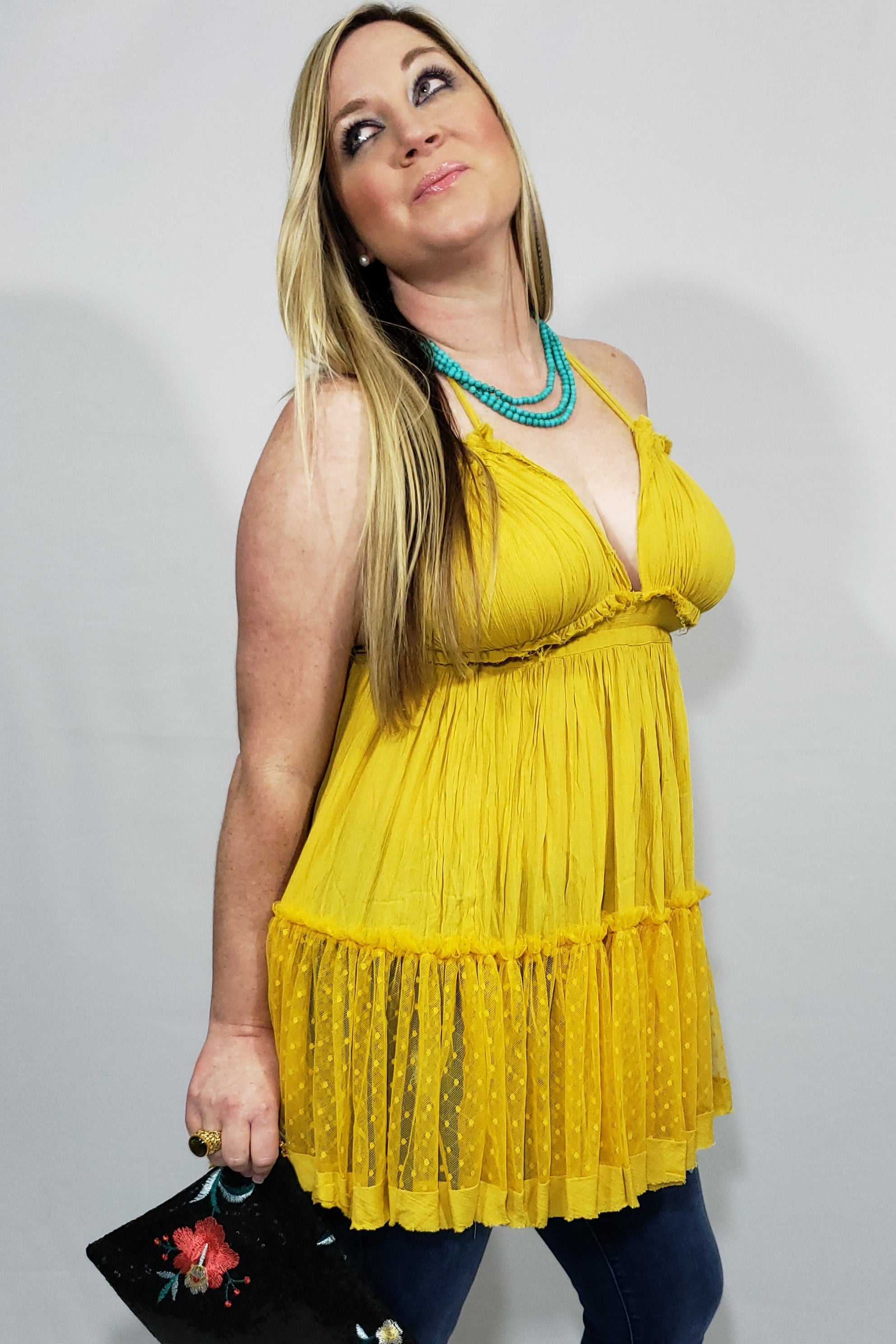 Caribbean Queen Lace Tunic - Houzz of DVA Boutique