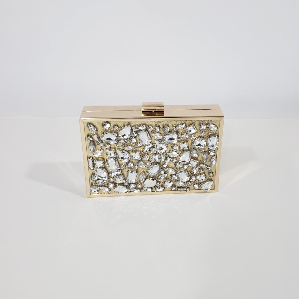 Belle of The Ball Jewel Encrusted Clutch - Houzz of DVA Boutique
