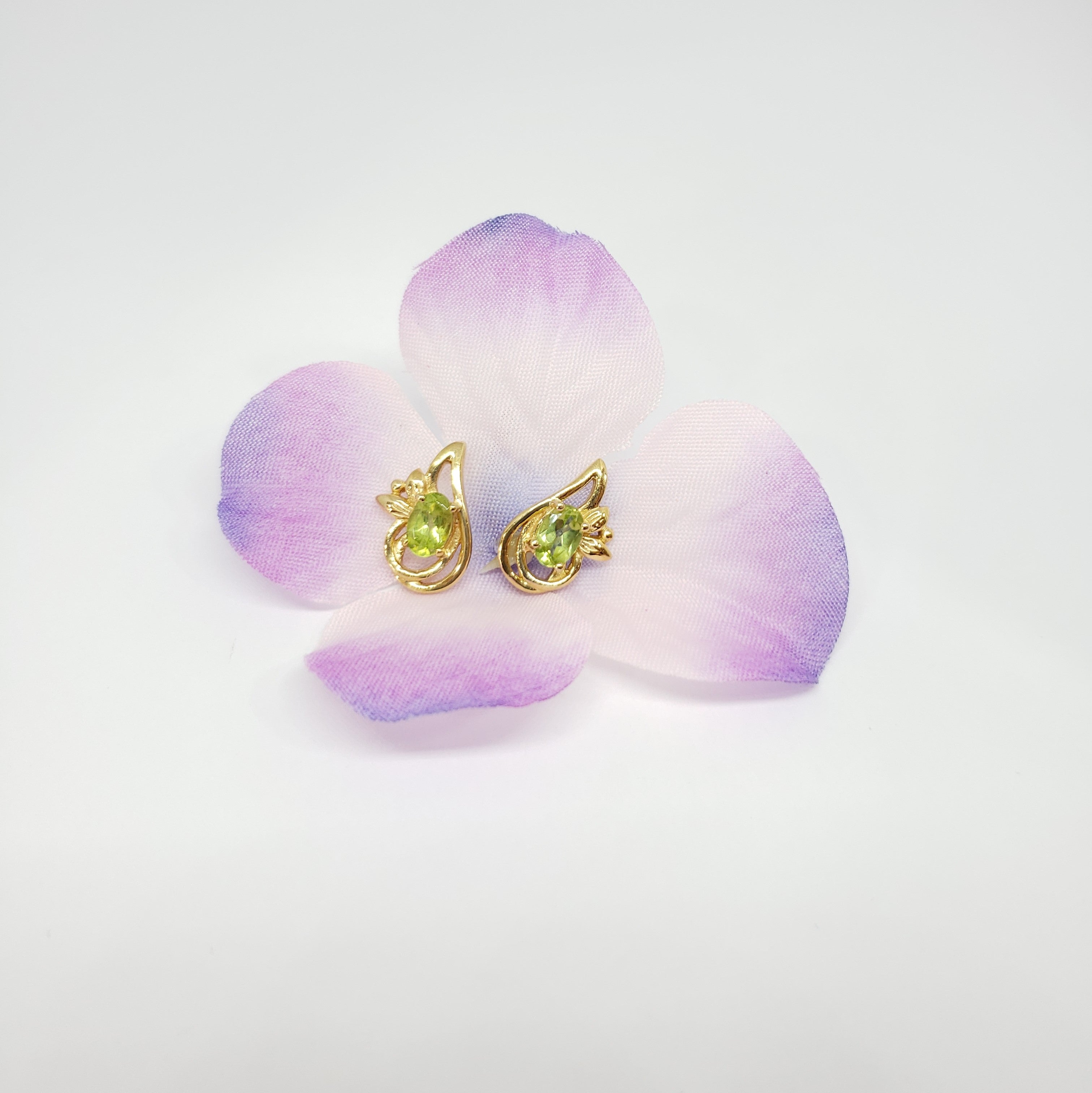 Hebei Peridot 14K YG Over Sterling Silver Earrings TGW 1.00 cts. - Houzz of DVA Boutique