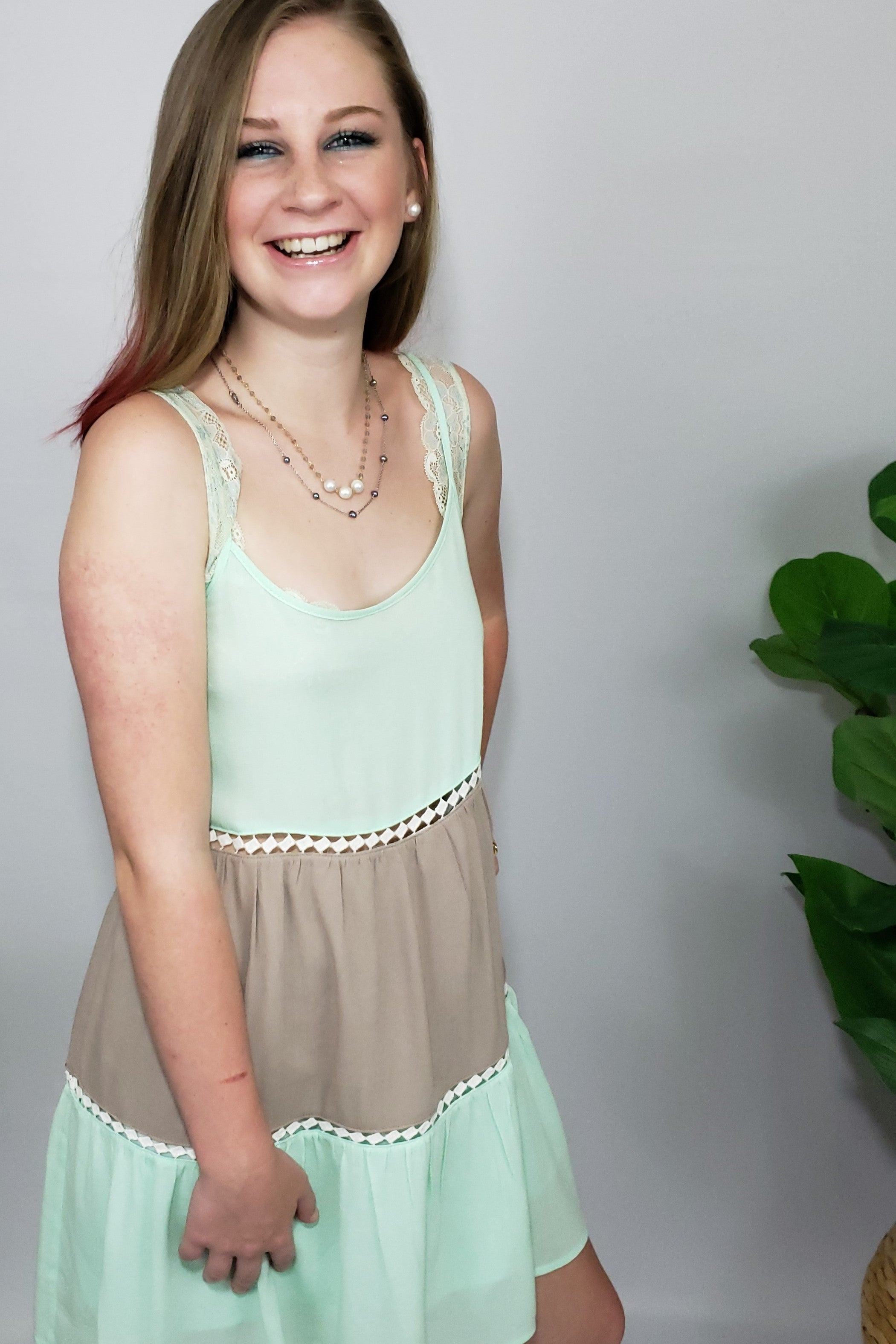 2e1260ce5f039 Sun is Out Color Block Sundress in Mint   Mocha – Houzz of DVA Boutique
