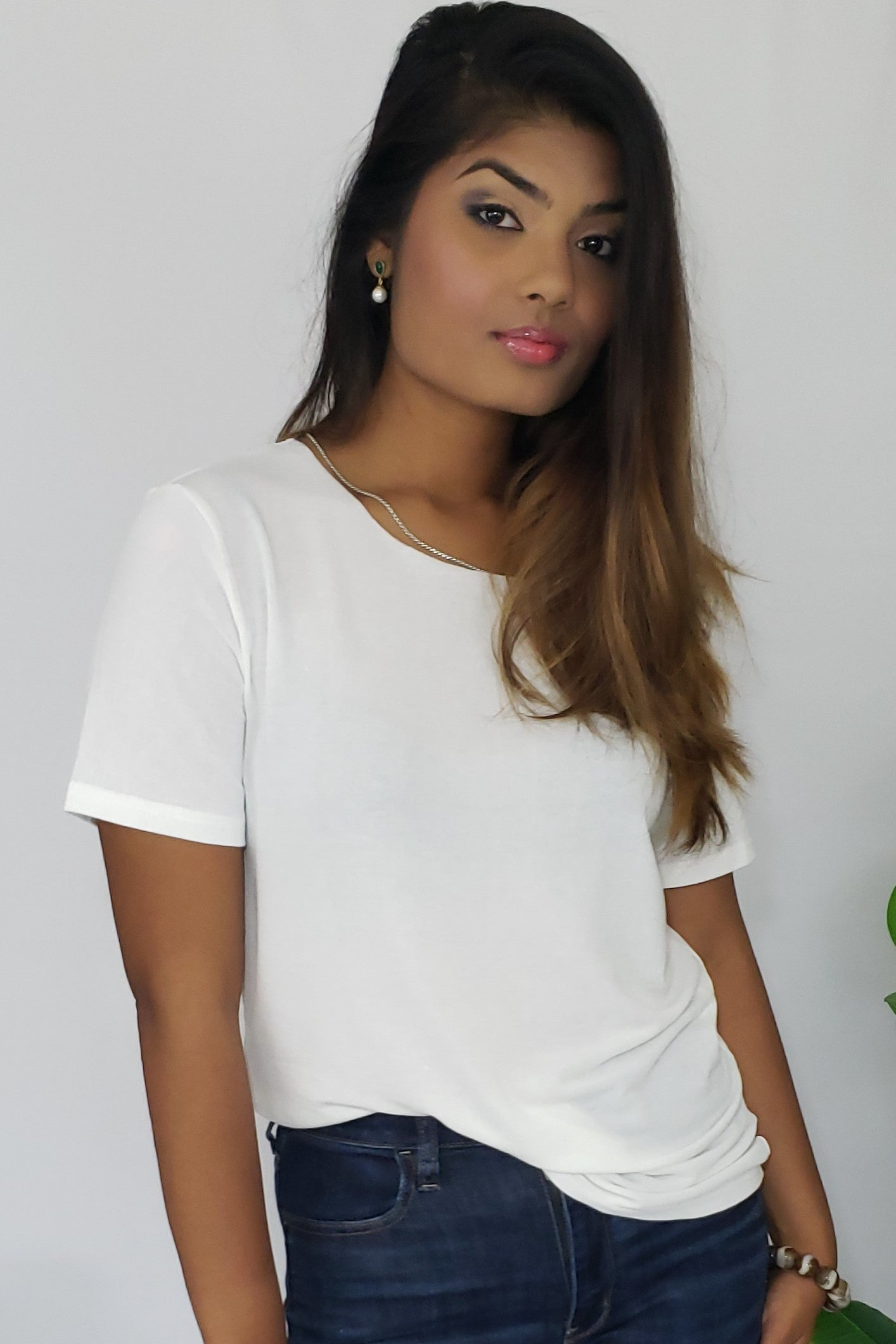 Renata Charmed I'm Sure T-Shirt with Detachable Silver Chain Detail - Houzz of DVA Boutique