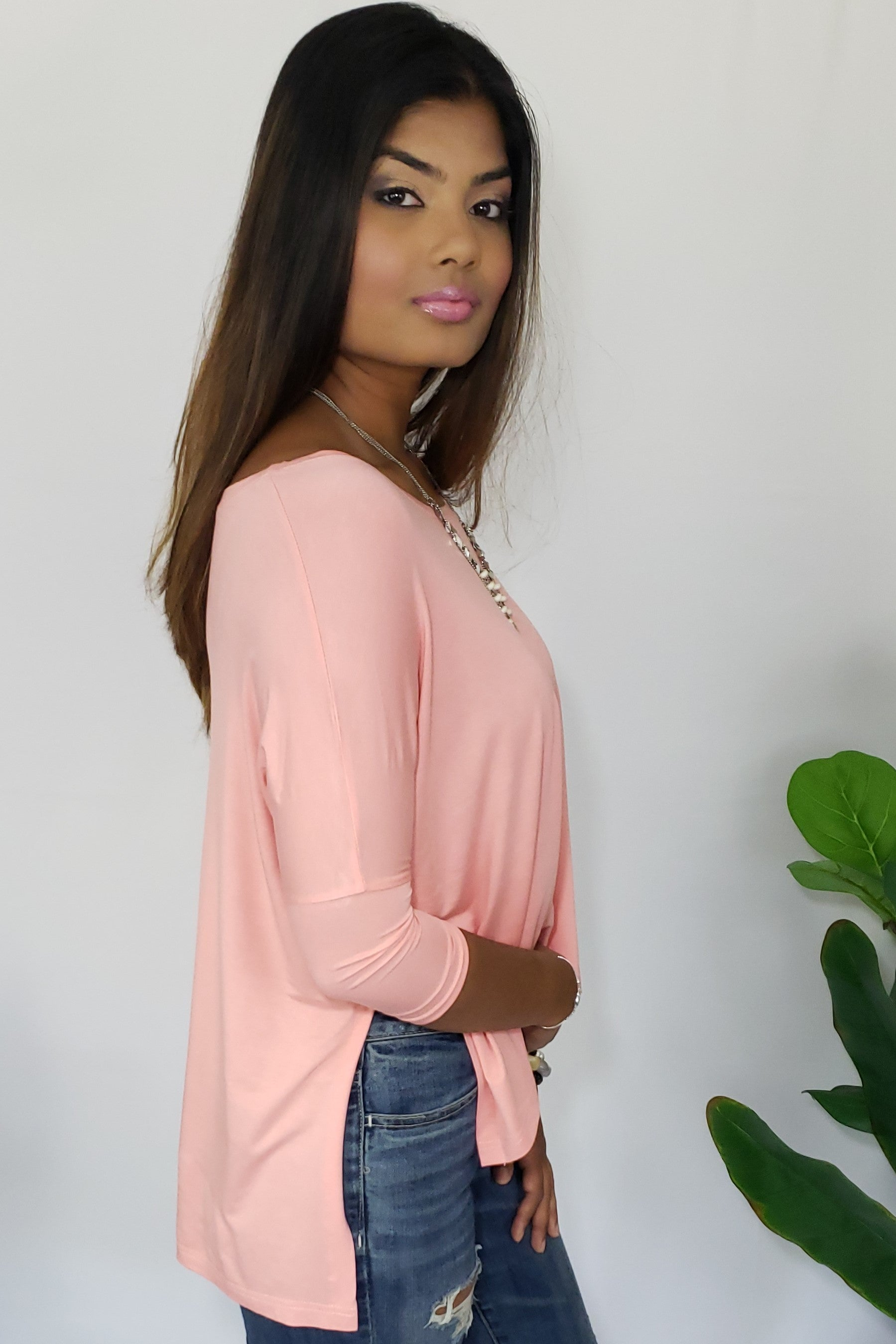 Monica She Candoit Sweet & Comfy T-Shirt in Bright Peach - Houzz of DVA Boutique