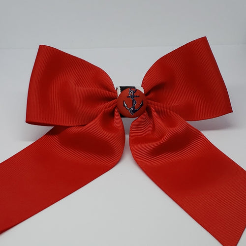 Cassidy-Dior Cheer Style Bow in Red, Navy, Black & White - Houzz of DVA Boutique