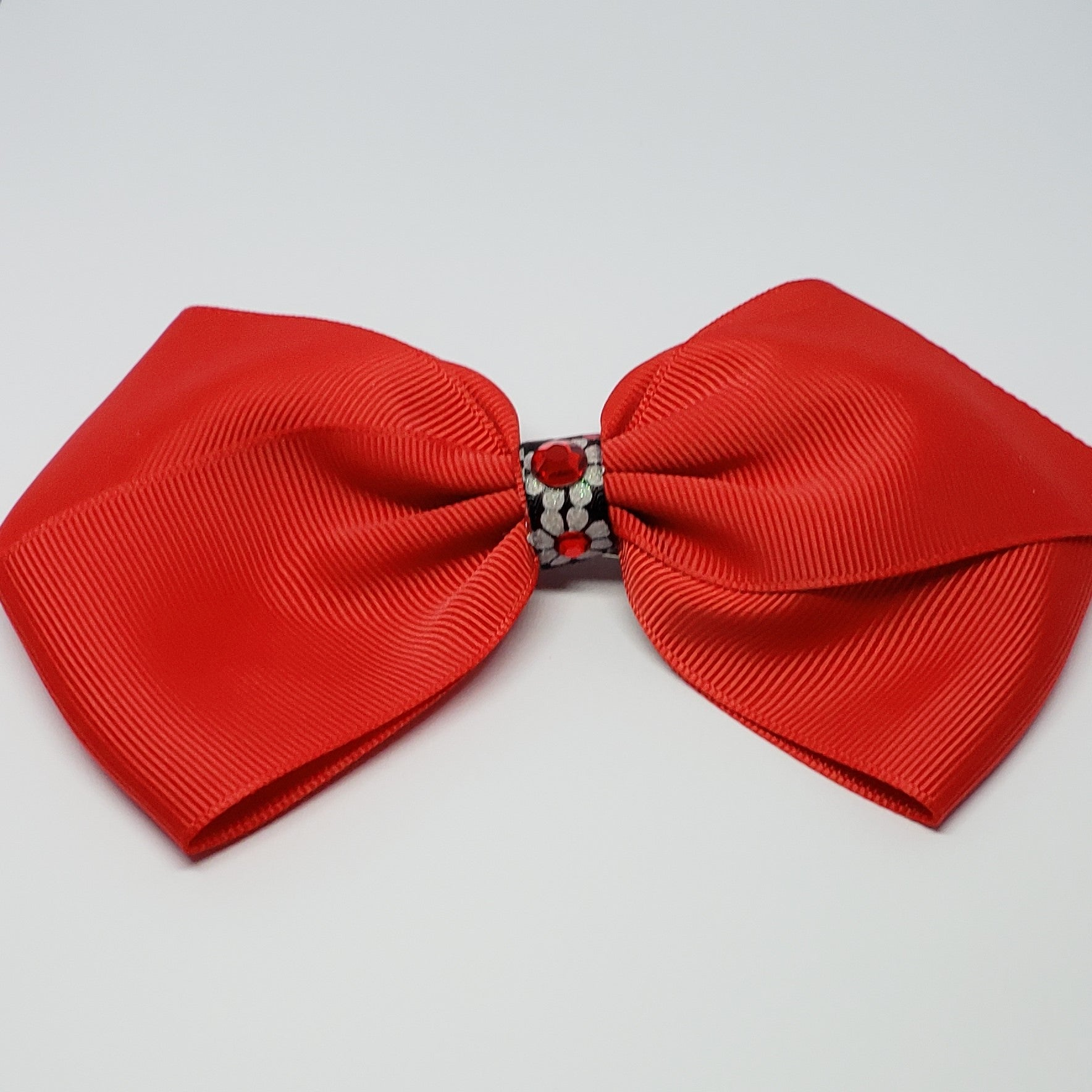 Kelsea Hairclip in Red & Swarovski Stones Detail - Houzz of DVA Boutique