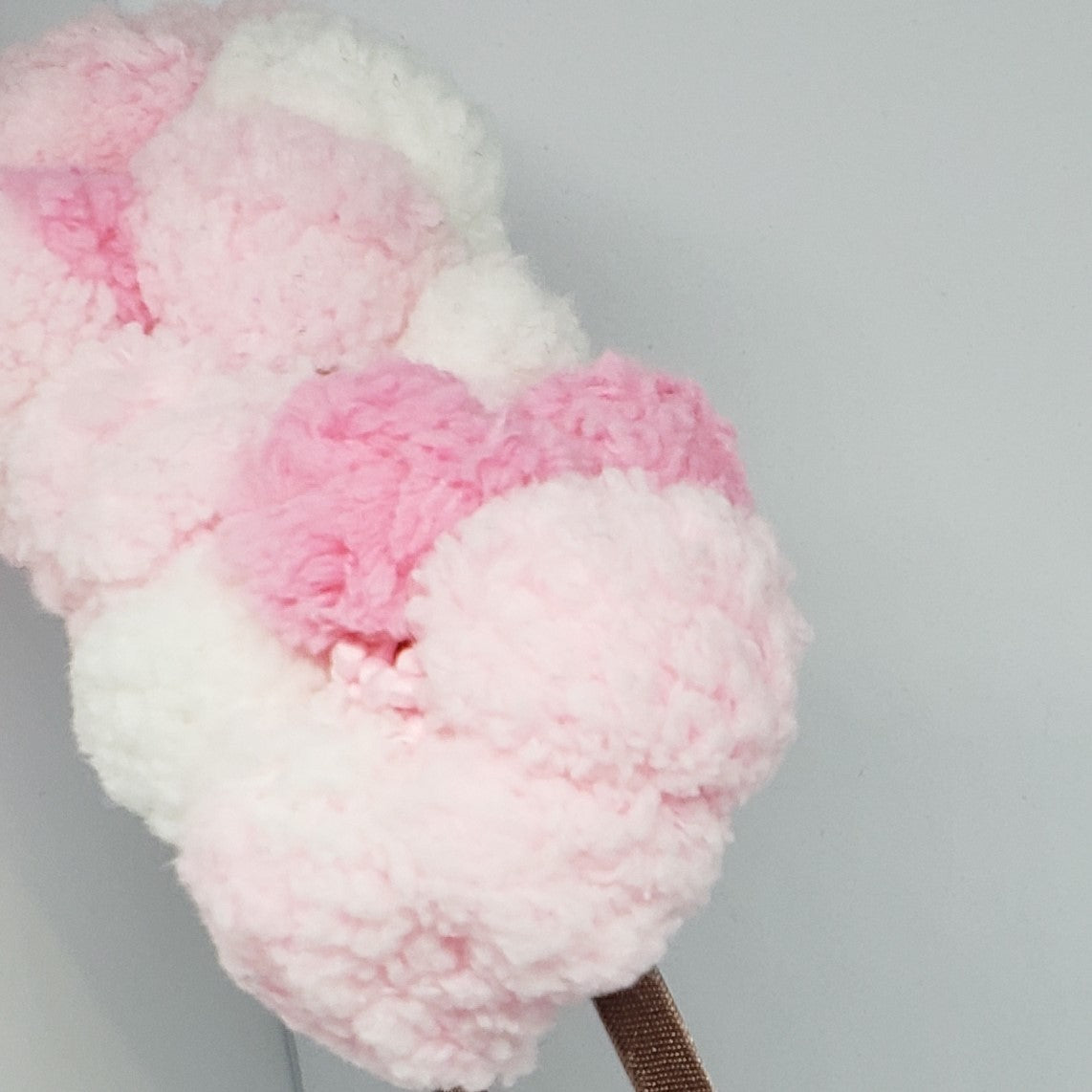 Kaelyn Cotton Candy Explosion Headband in Pink & White - Houzz of DVA Boutique