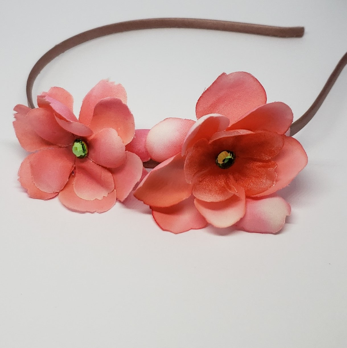 Kelsea Heavenly Coral & Lime Green Swarovski Flower Headband - Houzz of DVA Boutique