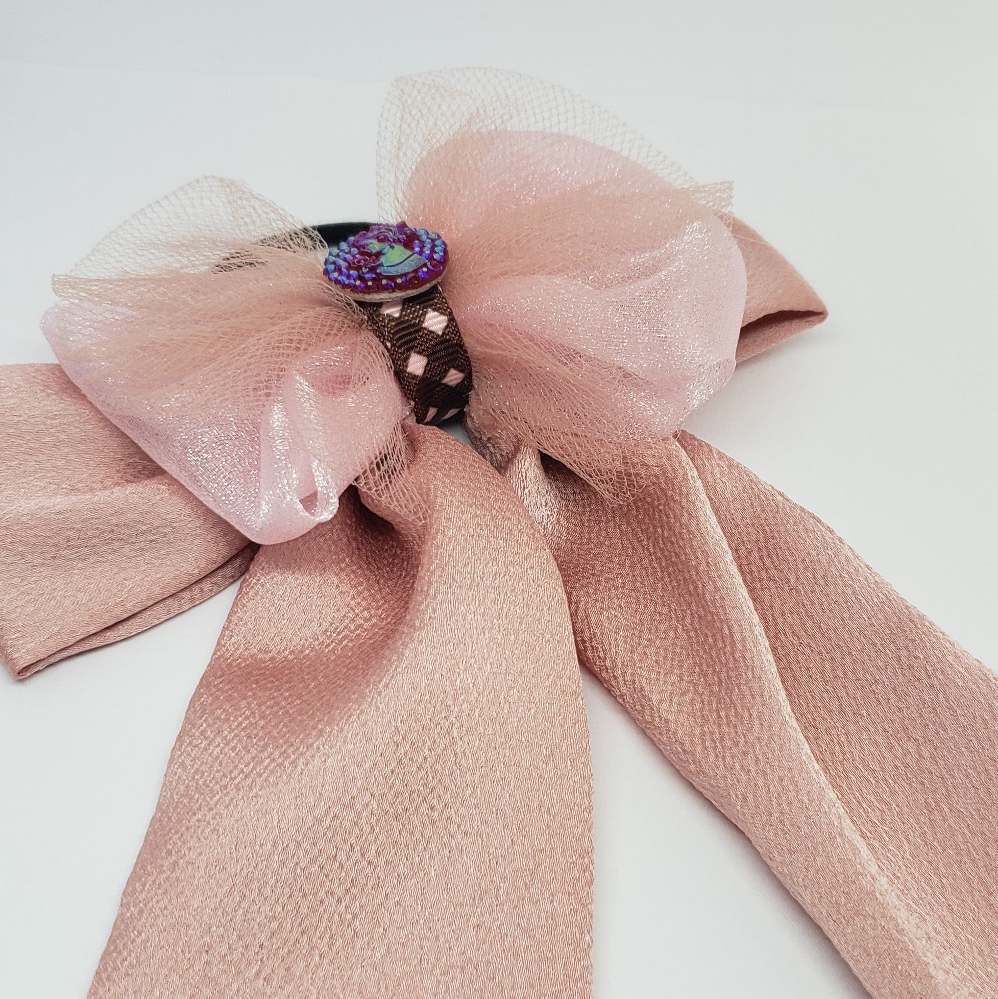 Kelsea Cameo Organza & Tulle Flowy Bow in Shades of Pink - Houzz of DVA Boutique