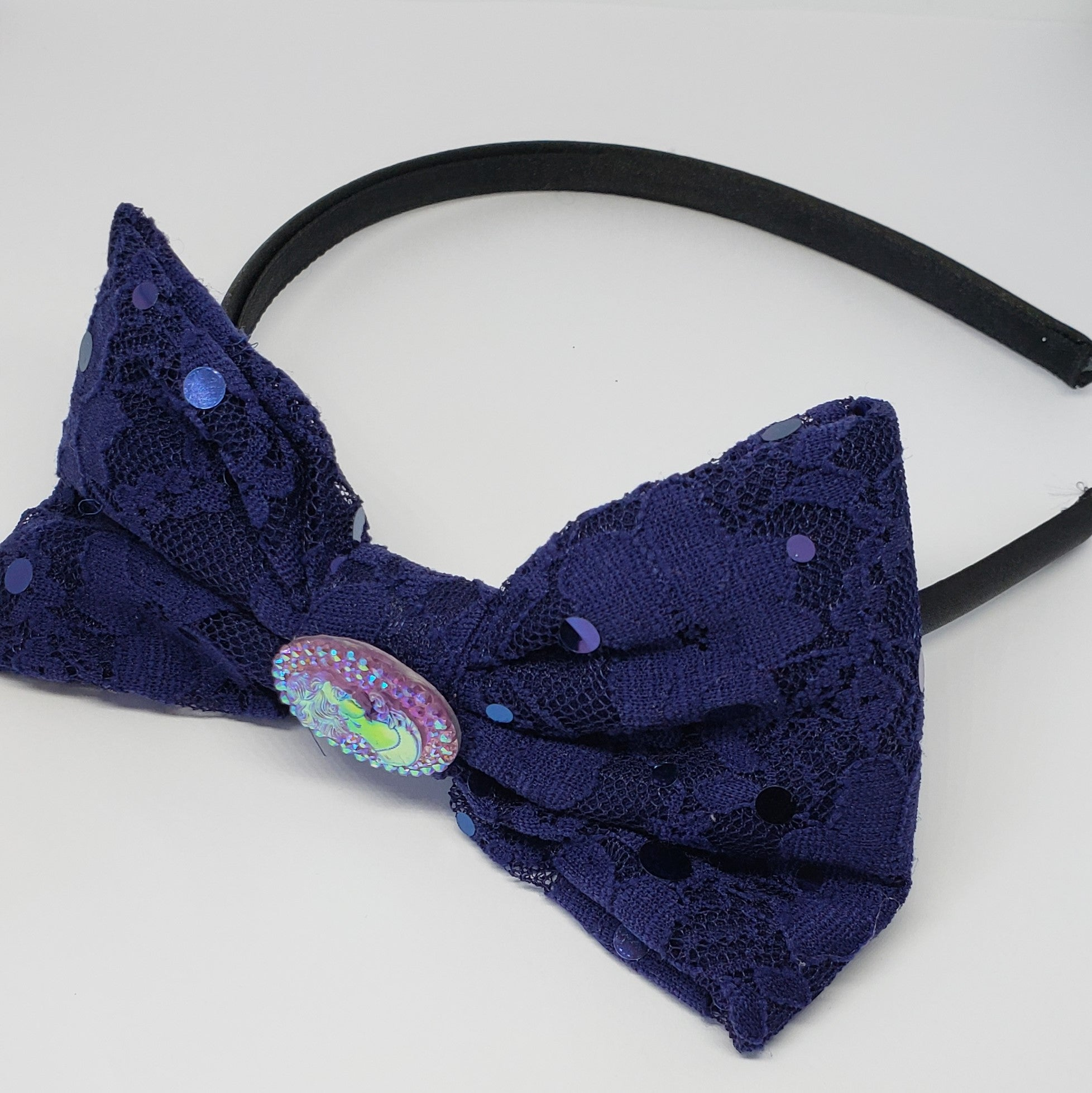 Sophia-Lynn Cameo Fancy Navy Lace Headband - Houzz of DVA Boutique
