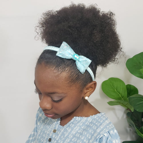 Cassidy-Dior Fairy Princess Cameo Headband in Ice Blue - Houzz of DVA Boutique