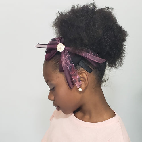 Makaya Animal Instinct Peach Freshwater Pearl Burgundy & Black Headband - Houzz of DVA Boutique