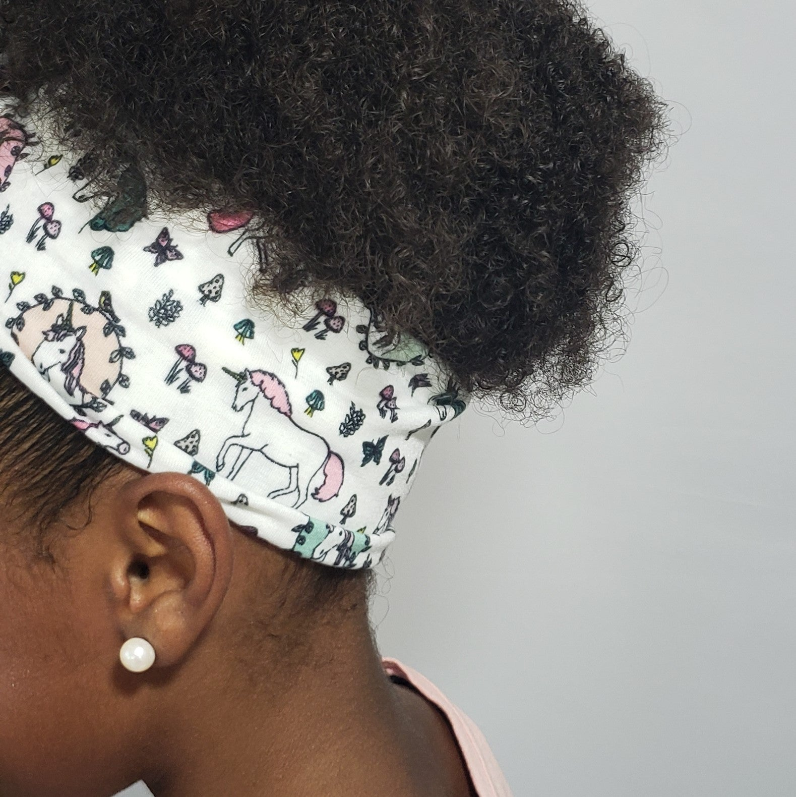 Makaya Butterflies & Unicorns Bow Detail Headband in Pink, White & Green - Houzz of DVA Boutique