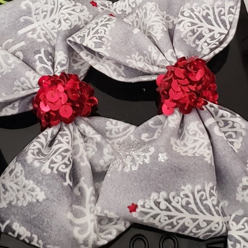 Sophia-Lynn Pop of Holiday Red Bows - Houzz of DVA Boutique