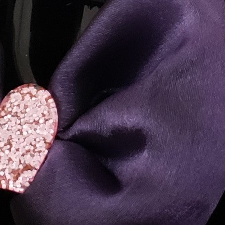 N-Zala Purple Heart Bow - Houzz of DVA Boutique