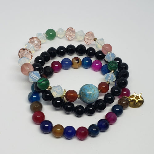 Onyx Multi Stretch Bracelet Set - Houzz of DVA Boutique