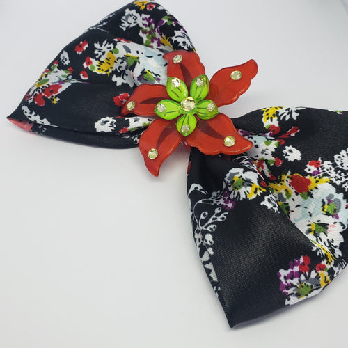 Mila Holiday Flower Party Bow - Houzz of DVA Boutique