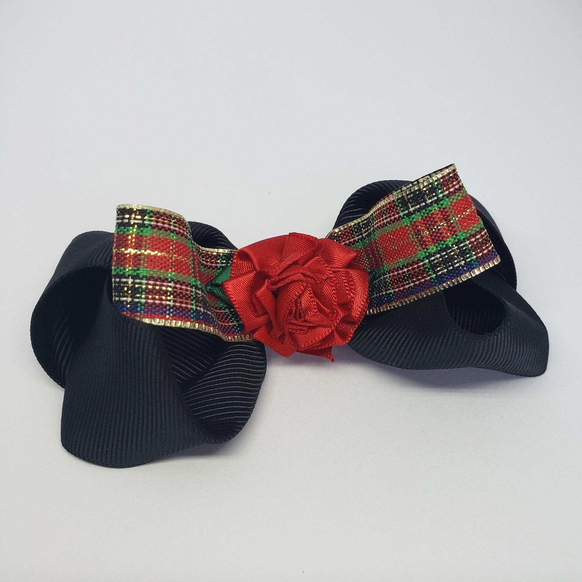 Sarai Chocolate Mini Holiday Rose Bow - Houzz of DVA Boutique