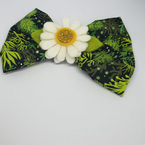 Kaelyn Holiday Sunshine Green Bow - Houzz of DVA Boutique