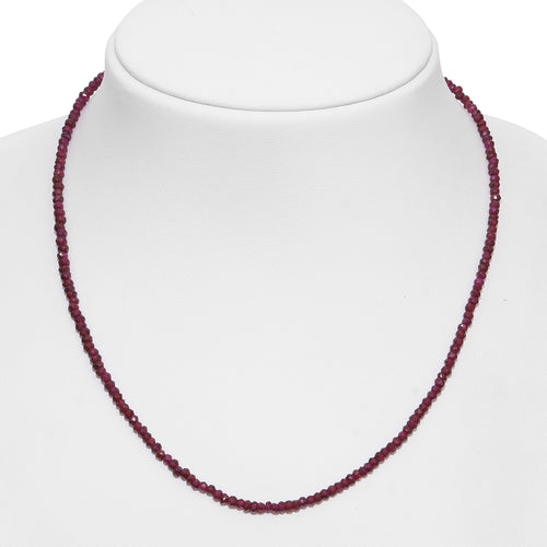 Call Me Baby Orissa Rhodolite Garnet Faceted Beads Sterling Silver Necklace (18 in) TGW 42.00 cts. - Houzz of DVA Boutique